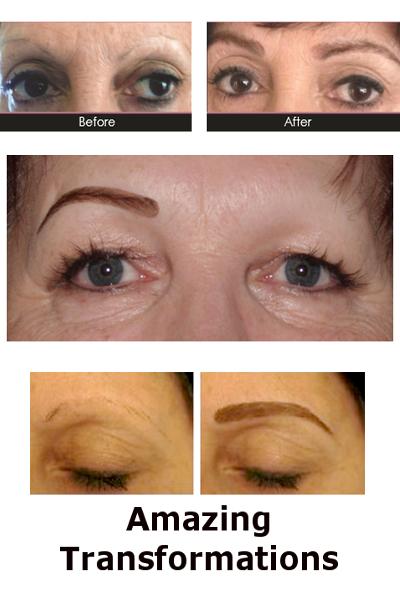 Ladies False Eyebrows Dark Brown